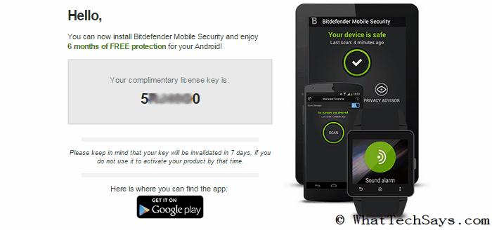 Bitdefender Mobile Security 6 Months License Key