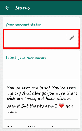 Whatsapp tricks for blank status
