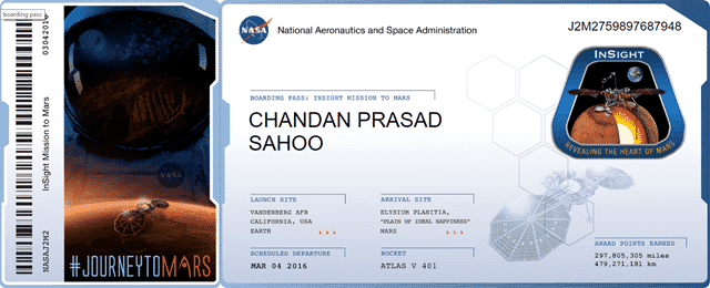 Send Your Name to Mars with NASA