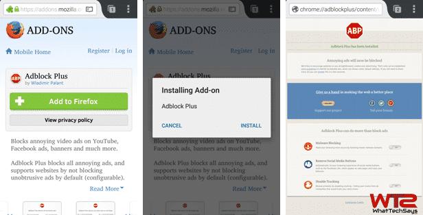 Adblock Plus Extension on Mozilla Firefox