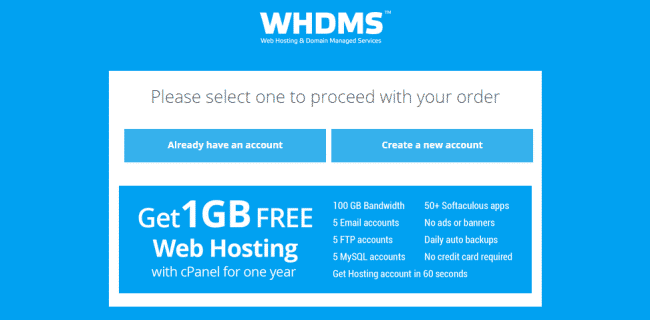 Free Web Hosting with cPanel for 1 Year