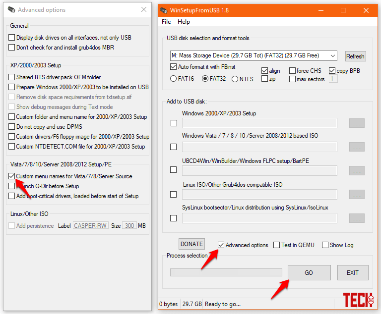 create MultiBoot USB flash drive from ISO