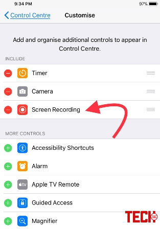 Enable Screen Recording in iOS 11