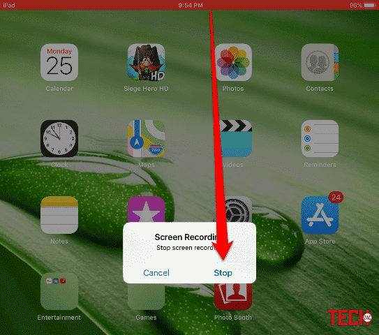 Stop Screen Recording in iOS 11