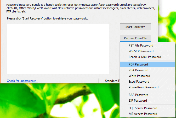 Use Password Recovery Bundle to Recover Any Password in Windows