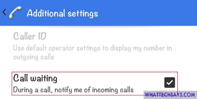 Enable Call Waiting