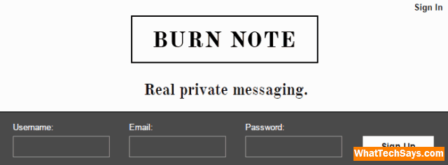 Send Self Destructing Email burnnote