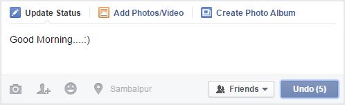 Undo Facebook Status Update