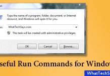 Useful Run Command