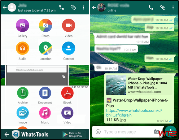 Send Large File on WhatsApp