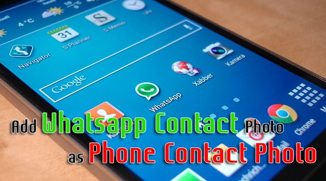 Whatsapp Contact Photo as Phone Contact