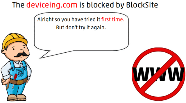 popup message of Block Sites On Chrome