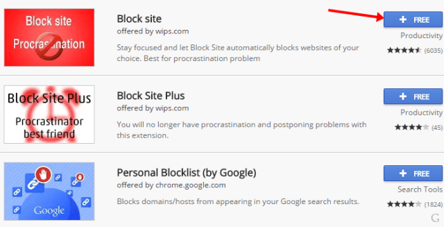 Block Sites On Chrome extension