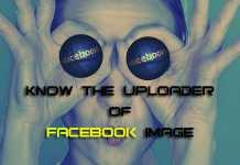 Know the Uploader of Facebook Downloaded Image