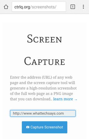 Take Full Webpage Screenshot
