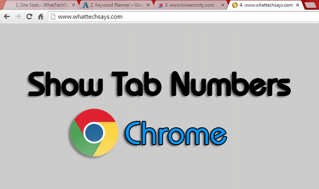 Show Tab Numbers in Google Chrome
