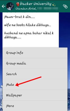 Whatsapp tricks to mute group chat