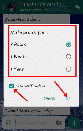 mute group chat Whatsapp tricks
