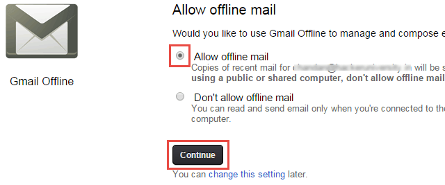 Access Gmail Mail without Internet
