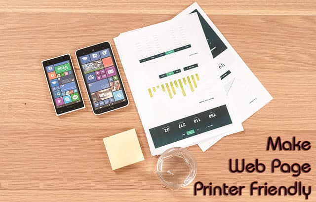 Make a Web Page Printer Friendly