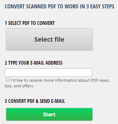 Convert Scanned PDF Documents to Word