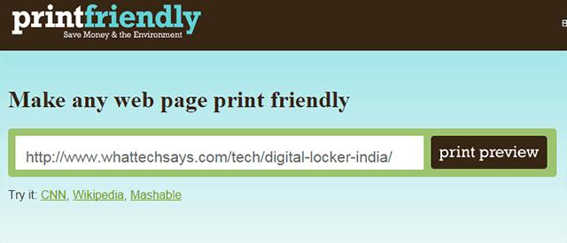Make a Web Page Printer Friendly