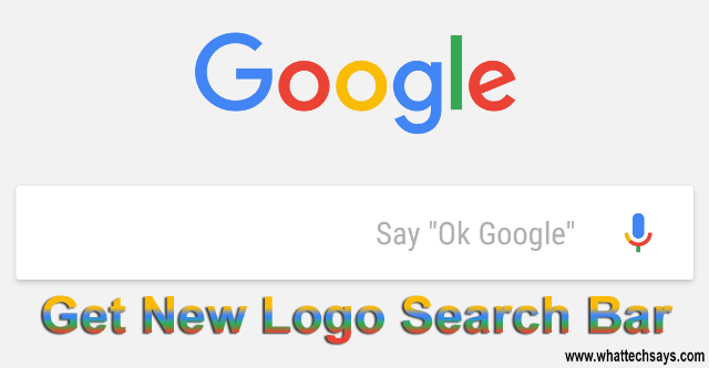How To Get New Logo Google Search Bar On Android (4.1