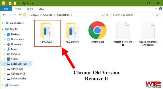 Remove Old Chrome Versions Manually