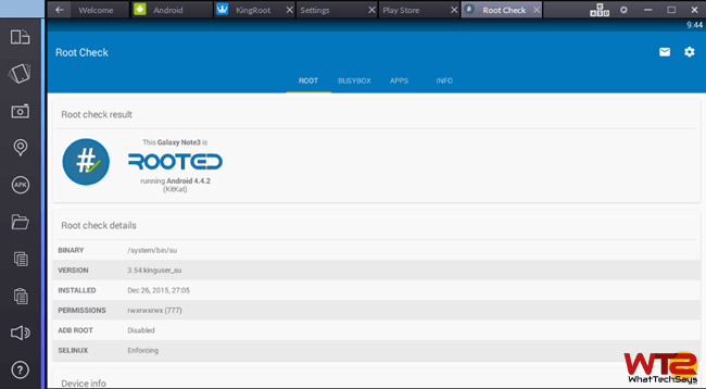 Root Bluestacks 2 App Player on Windows