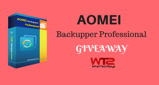 AOMEI Backupper Professional Giveaway