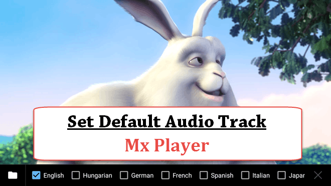 Set Default Audio Track in Mx Player