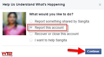 How to delete fake facebook account on my name 2016 report this account ccuart Image collections