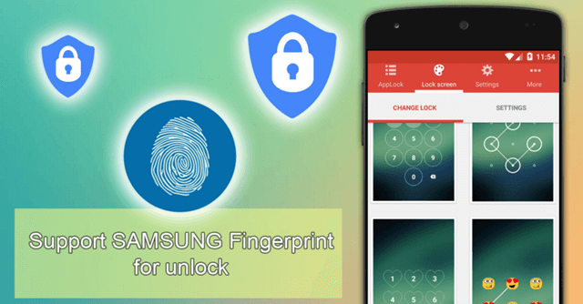 applock for Android with fingerprint scanner