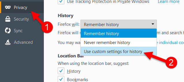 Automatically Delete Browsing History Firefox