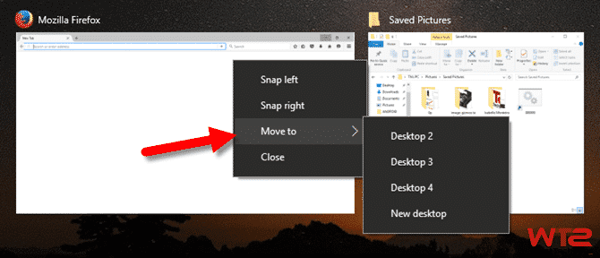 move virtual desktop windows 10
