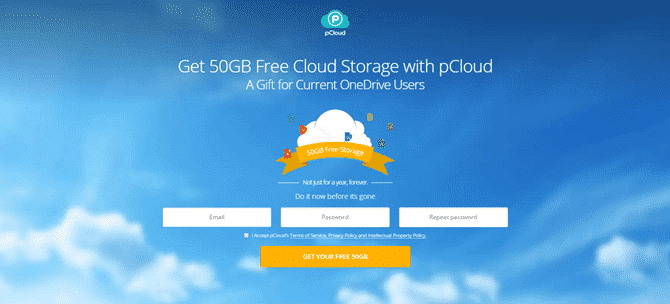 Get 50GB Free Lifetime Cloud Storage