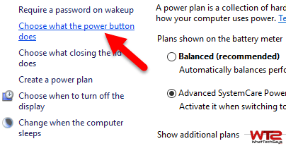 power button does