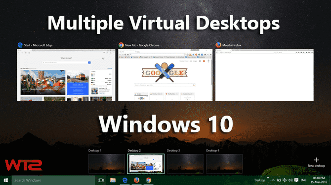 use Multiple Virtual Desktops in Windows 10