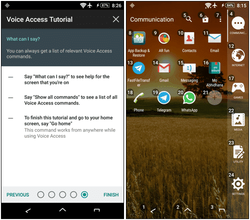 Control Android with Voice Commands