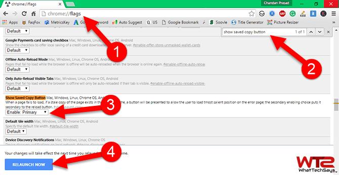 Enable Offline Mode in Google Chrome
