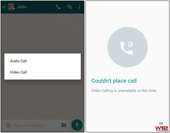 Activate WhatsApp Video Call Feature