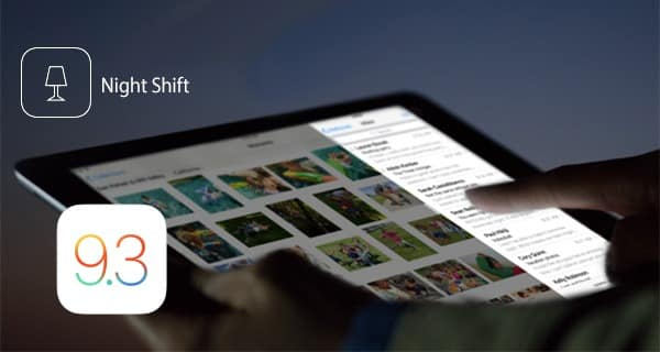 Enable Night Shift Mode in iOS 9.3