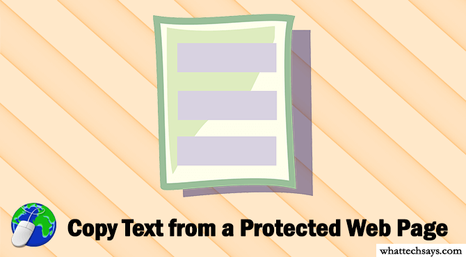 Copy Text from a Protected Web Page