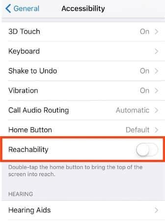 Disable Reachability