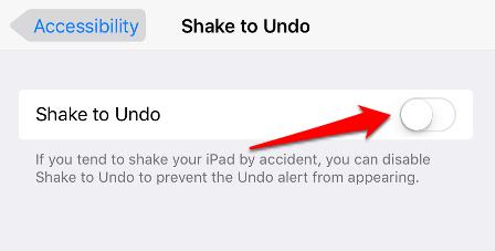 Disable Shake to Undo