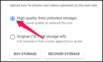 Google Photos Unlimited Storage Upload Limit