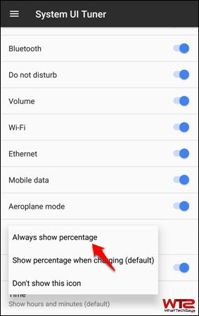 Enable Battery Percentage Indicator on Google Pixel