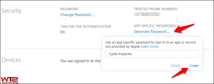 Generate app-specific Password