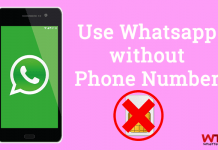 How to Use Whatsapp without Phone Number