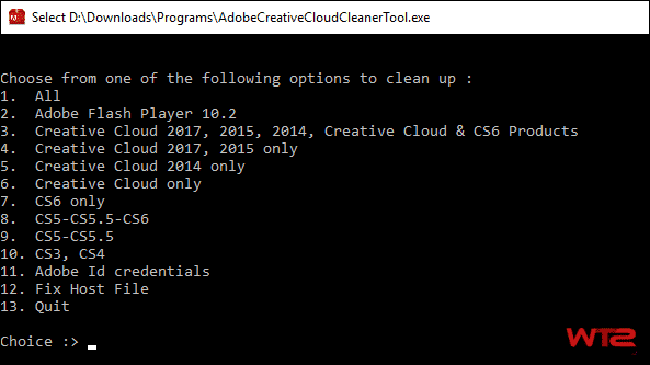 Use Adobe Creative Cloud Cleaner Tool